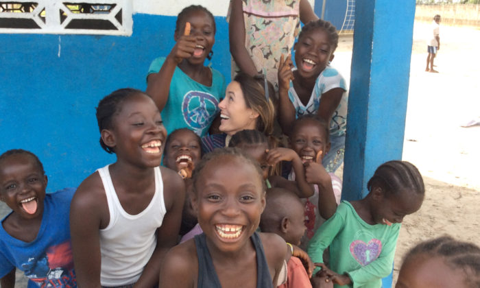 Sharing a laugh in Liberia